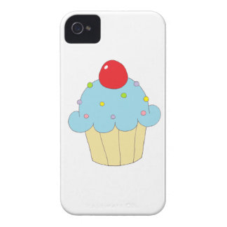 Blue Cupcake iPhone 4 Covers