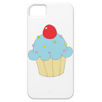 Blue Cupcake iPhone 5 Case