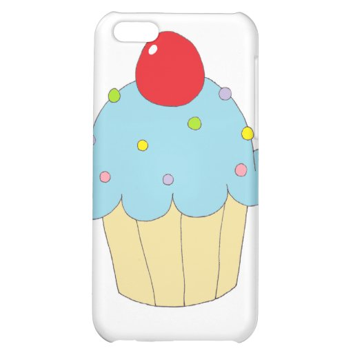 Blue Cupcake Cover For iPhone 5C