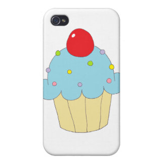 Blue Cupcake Cases For iPhone 4