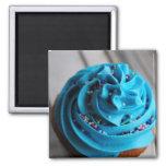 Blue Cupcake Photograph Magnet