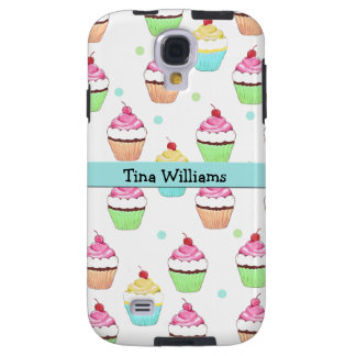Blue Cupcake Samsung Galaxy S4 Case