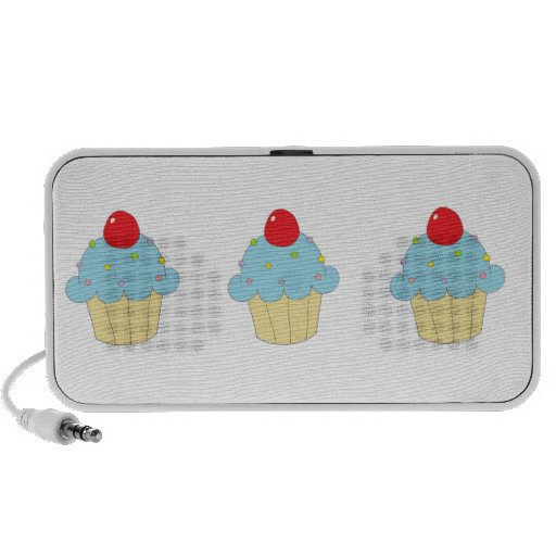 Blue Cupcake Speaker System