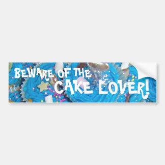 Blue Cupcakes 'cake lover' bumper sticker