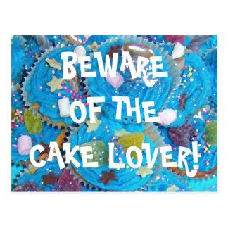 Blue Cupcakes 'cake lover' postcard