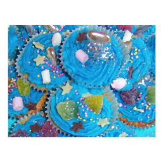 Blue Cupcakes postcard