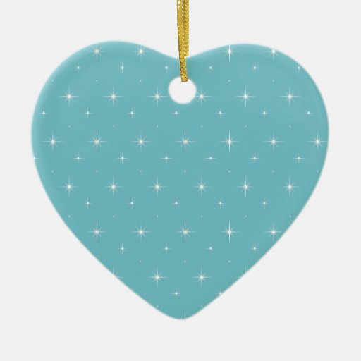Blue-Curacao-And-Bright-Stars-Elegant-Pattern Christmas Tree Ornament