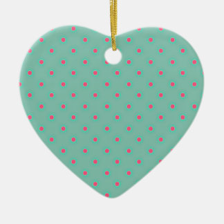 Blue Curacao And Pink Medium Polka Dots Pattern Christmas Tree Ornaments