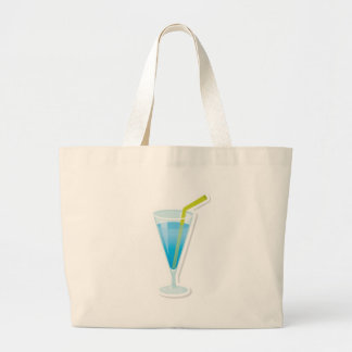 Blue curacao cocktail large tote bag