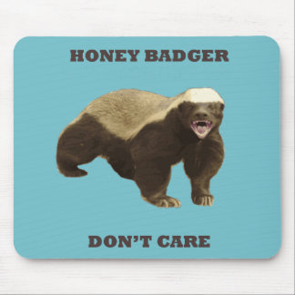 Blue Curacao Honey Badger Dont Care Mouse Pads
