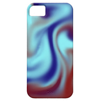 Blue Curl Barely There iPhone 5 Case