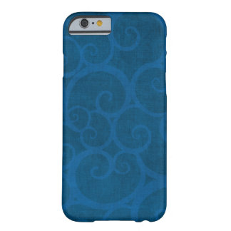 Blue curls lines abstract barely there iPhone 6 case