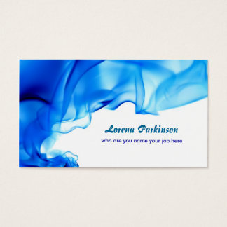 blue curls swirls business card