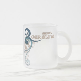 Blue Curly Swirl South Carolina Mug Glass