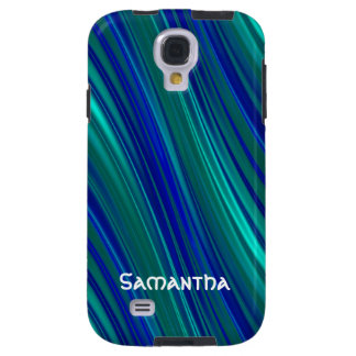 Blue curved stripes galaxy s4 case