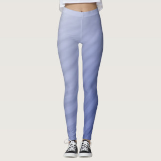 Blue curving stripes leggings