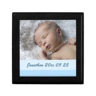 Blue Custom Baby Photo Keepsake Giftbox Gift Box