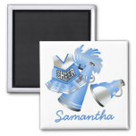 Blue Custom Cheerleader Magnet