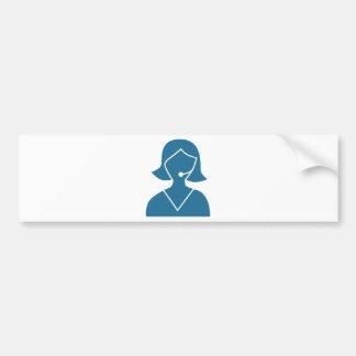 Blue Customer Service Sales Representative Icon Bumper Sticker