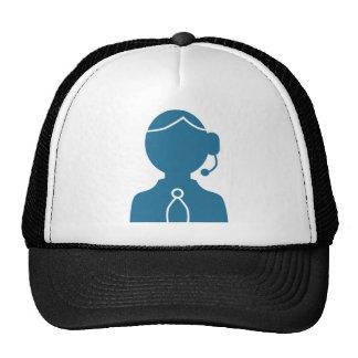Blue Customer Service Sales Representative Icon Cap