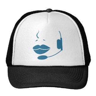 Blue Customer Service Sales Representative Icon Trucker Hat