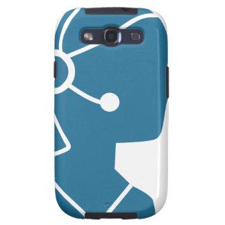 Blue Customer Service Sales Representative Icon Samsung Galaxy SIII Covers