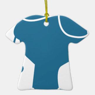 Blue Customer Service Sales Representative Icon Double-Sided T-Shirt Ceramic Christmas Ornament