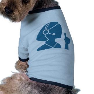 Blue Customer Service Sales Representative Icon Ringer Dog Shirt