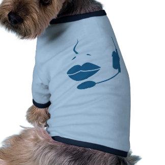 Blue Customer Service Sales Representative Icon Doggie Tee Shirt