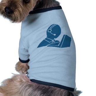 Blue Customer Service Sales Representative Icon Pet T Shirt