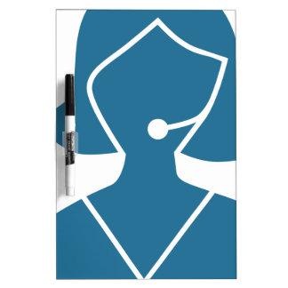 Blue Customer Service Sales Representative Icon Dry-Erase Whiteboard