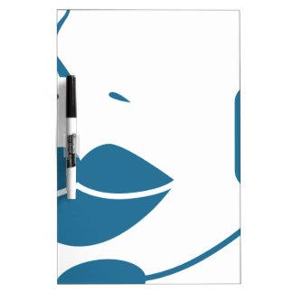 Blue Customer Service Sales Representative Icon Dry-Erase Boards