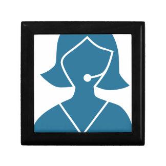 Blue Customer Service Sales Representative Icon Gift Boxes