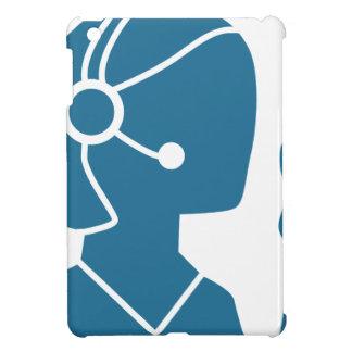Blue Customer Service Sales Representative Icon iPad Mini Case