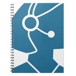Blue Customer Service Sales Representative Icon Note Book