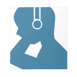 Blue Customer Service Sales Representative Icon Scratch Pads