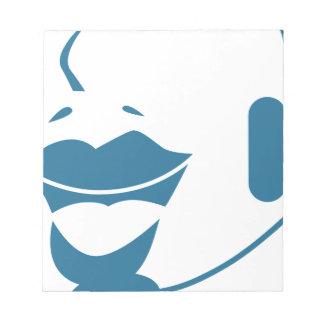 Blue Customer Service Sales Representative Icon Scratch Pad