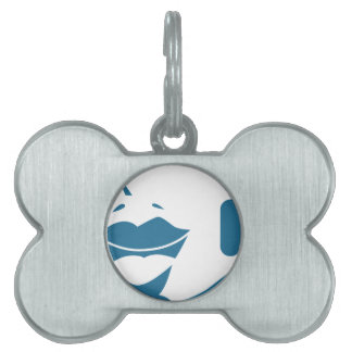 Blue Customer Service Sales Representative Icon Pet Tag