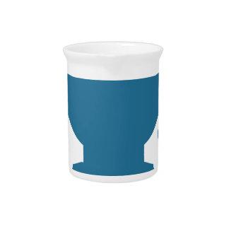 Blue Customer Service Sales Representative Icon Drink Pitcher