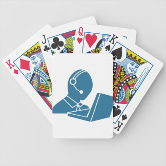 Blue Customer Service Sales Representative Icon Bicycle Playing Cards