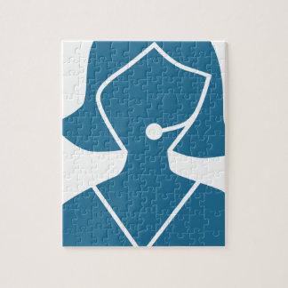 Blue Customer Service Sales Representative Icon Jigsaw Puzzles