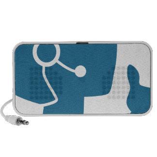 Blue Customer Service Sales Representative Icon iPod Speakers