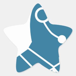Blue Customer Service Sales Representative Icon Star Sticker