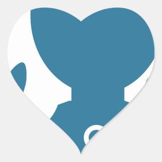 Blue Customer Service Sales Representative Icon Heart Sticker