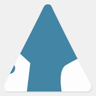 Blue Customer Service Sales Representative Icon Triangle Sticker