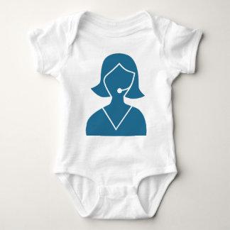 Blue Customer Service Sales Representative Icon T-shirts