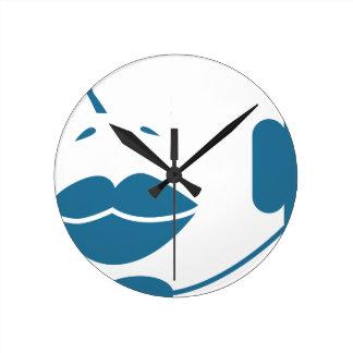 Blue Customer Service Sales Representative Icon Wallclock