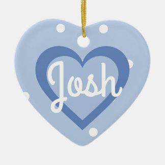 Blue Customisable/First Christmas Heart Ornanent Christmas Ornament