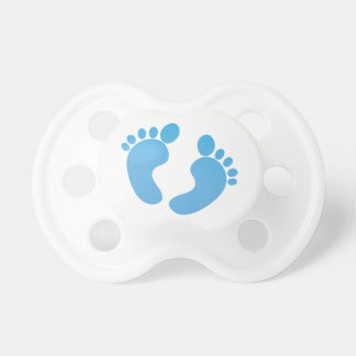 Blue cute baby feet maternity baby pacifier