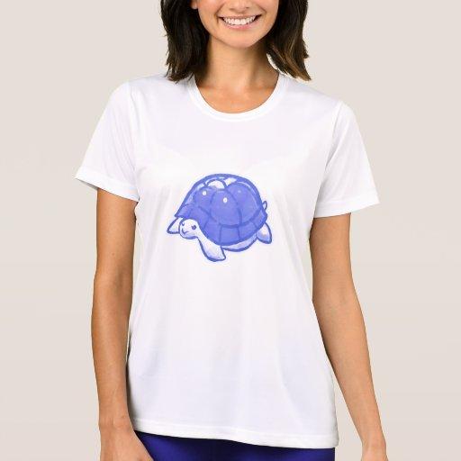 Blue Cute Cartoon Turtle Tees